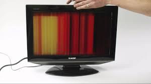 lcd tv fault repair diagnostics vertical lines youtube