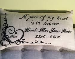 Baby Remembrance Gifts Memorial Pillow Memorial Gift In Memory Of Sympathy Gift