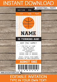 free basketball birthday invitation templates cloveranddot com