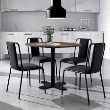 table ronde cuisine pied central table ronde pour cuisine en stratifié avec pied central spinner