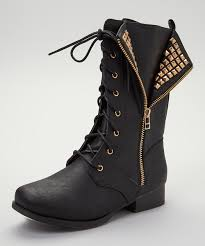 black jetta combat boot zulily cool studs at a great price