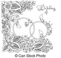 stock illustration married green floral image