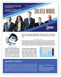 business professionals newsletter template for microsoft word