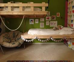 suspended bed daybed furniture accessories green wall paint decoration in