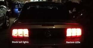 mustang led tail lights raxiom mustang led tail light conversion kit 49224 05 09 all