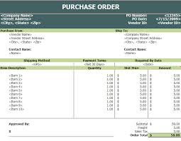 Vendor Management Excel Template Purchase Order Templates In Excel