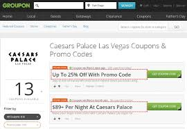 Caesars Palace Buffet Coupons by Live Like A Vip With Travel Deals From Groupon Coupons At Caesars