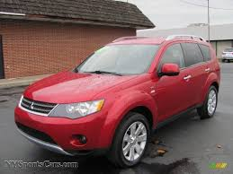red mitsubishi outlander 2008 mitsubishi outlander xls 4wd in rally red metallic 002269