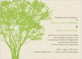 Tree Wedding Invitations Cream And Green Rustic Tree Wedding Invitation Wedding Invitations