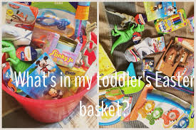 easter baskets for toddlers what s in my toddler s 17 month easter basket