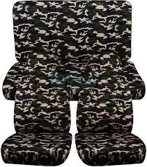jeep wrangler military green jeep wrangler yj tj jk 1987 2017 camo seat covers front u0026 rear