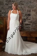 chiffon halter neck a line wedding dresses ebay