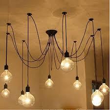 Light Fixtures Chandeliers 6 Lights Loft Style Vintage Retro Ceiling Lamps Fixtures
