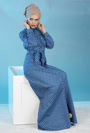 polka dot denim button maxi dress