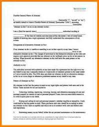 blank power of attorney form format of durable power of attorney