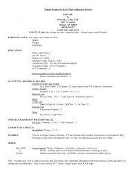 Resume Template College Student Cover Letter College Admissions Resume Objective Grad School