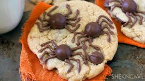 creepy spider cookies are an easy to make treat