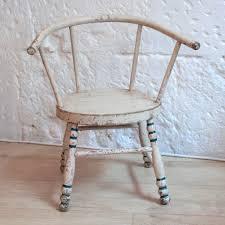 chaise vintage enfant ancienne petit chaise enfant vintage en bois peint vendue