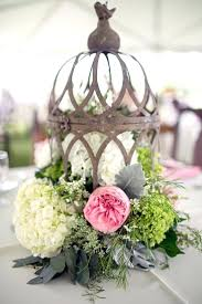 used wedding decor birdcage fresh flower centerpiece bird cage