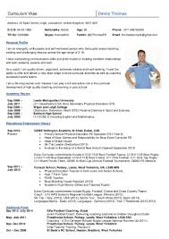 Tennis Coach Resume Sample Dannythomas Cv