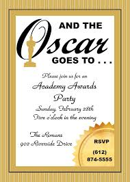 Invitation Card Of Opening Ceremony Academy Awards Party Invitations And Oscar Invitations New