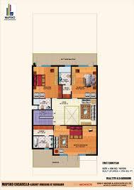 Casa Bella Floor Plan by Mapsko Casa Bella Mapsko Builders Sector 82 Nh 8 Gurgaon Floor