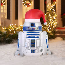 wars christmas decorations 4 6 airblown r2d2 with santa hat wars christmas