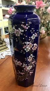 Antique Cobalt Blue Vases Oriental Asian Blue Vase Pastimes Decor Antiques U0026 Collectibles