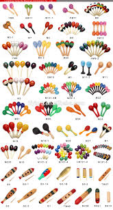 wooden hand painted maracas mexican maracas crafts for kids buy