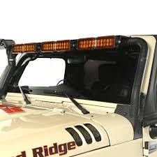 jeep light bar bumper rugged ridge 11232 41 windshield led light bar kit amber 07