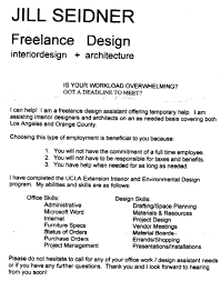 Freelance Resume Writing Jobs by Freelance Fashion Designer Cover Letter