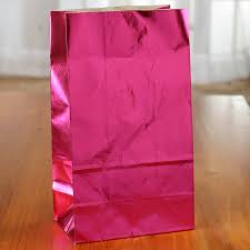 metallic gift bags hot pink metallic paper gift bag gift bags favor bags party