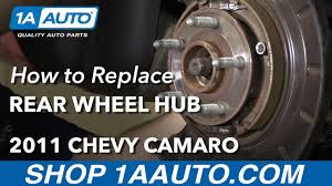 how to install replace rear wheel bearing hub assembly v6 3 6l