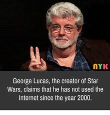 Lucas Meme - nyk george lucas the creator of star wars claims that he has not