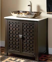 Bathroom  Everett Vessel Sink Vanity White Throughout Renovation - Bathroom vanity for vessel sink