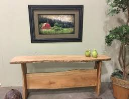 Oak Accent Table Live Edge Furniture Accent And Sofa Tables