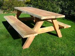 wood patio furniture table picnic outdoor decorations