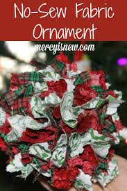 no sew fabric ornament tutorial super easy and lovely ornament