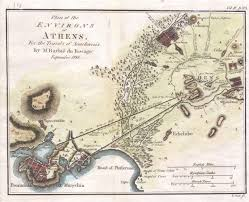 Map Of Ancient Greece by 1784 Bocage Map Of The City Of Athens In Ancient Greece