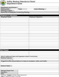 Safety Sign In Sheet Template 17 Toolbox Meeting Template Doc Tool Box For