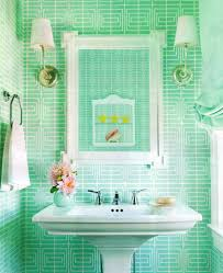 bright green bathroom tiles bring a pretty pop of fun colors