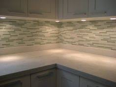 Kitchen Backsplash And Countertop Kitchen Countertop And - Glass tiles backsplash kitchen