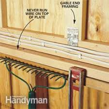 how to wire a garage unfinished family handyman