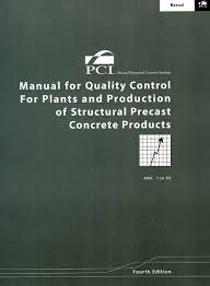 manual for quality control for plants and prod of struct precast