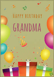 happy birthday card for with image of balloons and