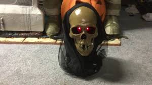halloween equipment lowes halloween animated 2009 gemmy floating skull spirit ball