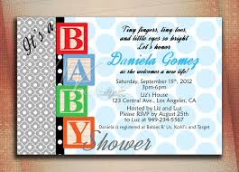 baby blocks baby shower invitation baby blocks birthday