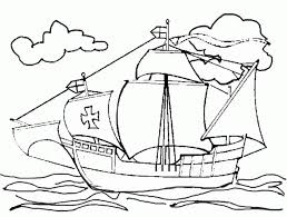 christopher columbus ships coloring pages coloring home