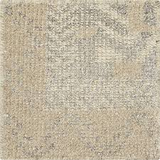 Crate And Barrel Rug Rosalie Neutral Hand Knotted Oriental 12