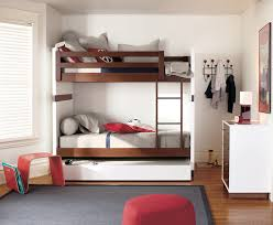 Plans For Bunk Bed With Trundle by Bunk Beds With Trundle In Kids Modern With Bunk Bed Plans Next To